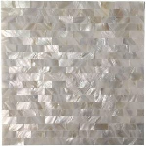 The Best Peel and Stick Backsplash Option: Art3d Mother of Pearl Mosaic Backsplash
