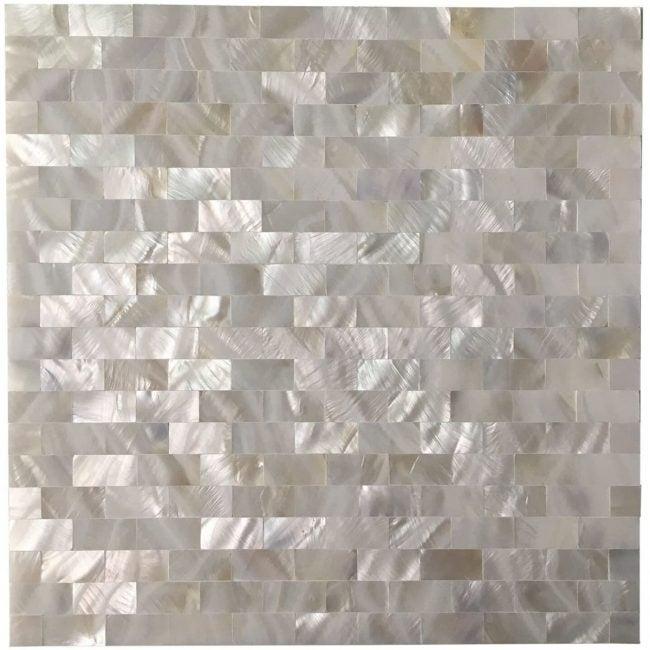 The Best Peel and Stick Backsplash Option: Art3d Mother of Pearl Mosaic Backsplash