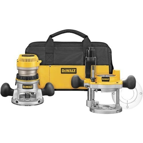 The Best Plunge Router Option: DEWALT Fixed/Plunge Base Router Kit