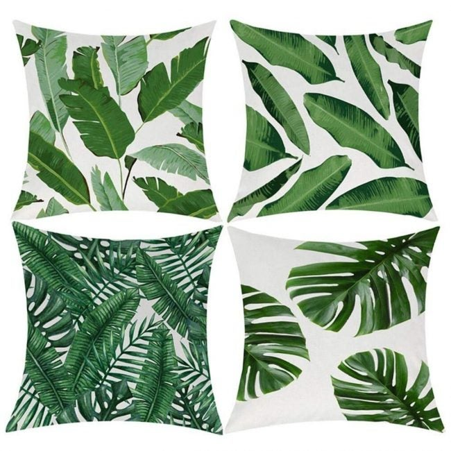 The Best Throw Pillows Option: EZVING Geometric Cotton Linen Indoor Outdoor Covers