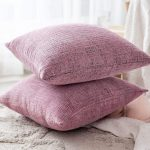 The Best Throw Pillows Option: Home Brilliant Soft Striped Chenille Covers
