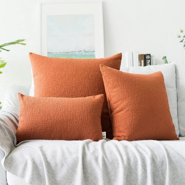 The Best Throw Pillows Option: Kevin Textile Corduroy Solid Textured Cover