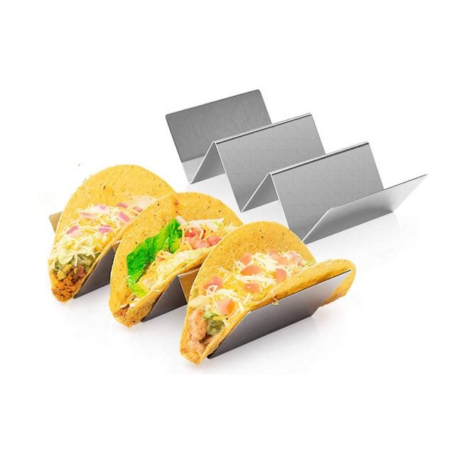The Best Taco Holder Option: Bioexcel Stainless Steel Taco Holder