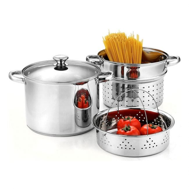 The Best Pasta Pot Options: Cook N Home Stainless Steel Pasta Cooker