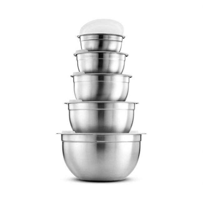 The Best Mixing Bowl Option: FineDine Premium Stainless Steel Mixing Bowl Set
