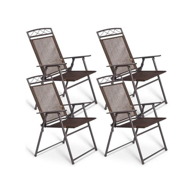 The Best Folding Chair Option: Giantex Set of 4 Folding Sling Chairs