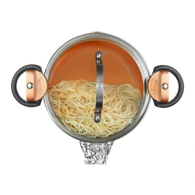 The Best Pasta Pot Option: Gotham Steel 5 Quart Multipurpose Pasta Pot