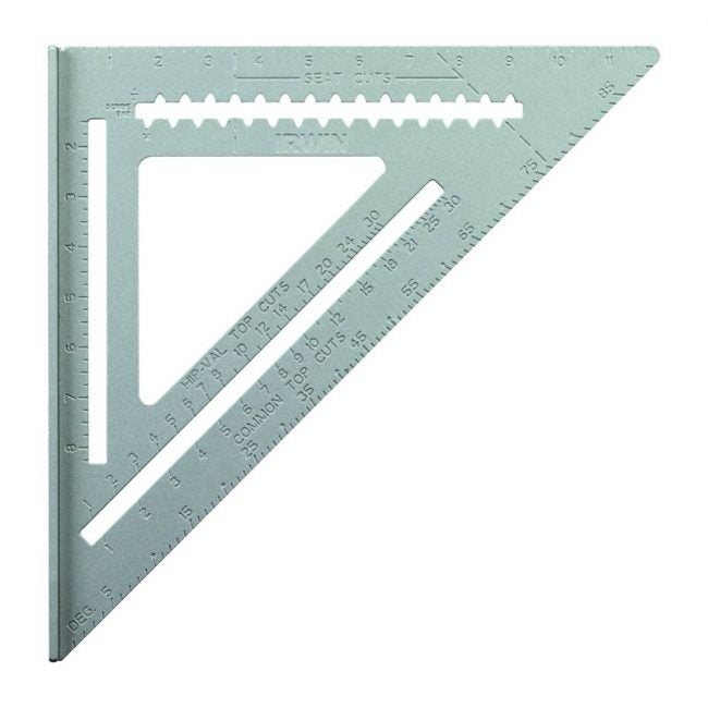 The Best Speed Square Option: IRWIN Tools Rafter Square, 12-Inch
