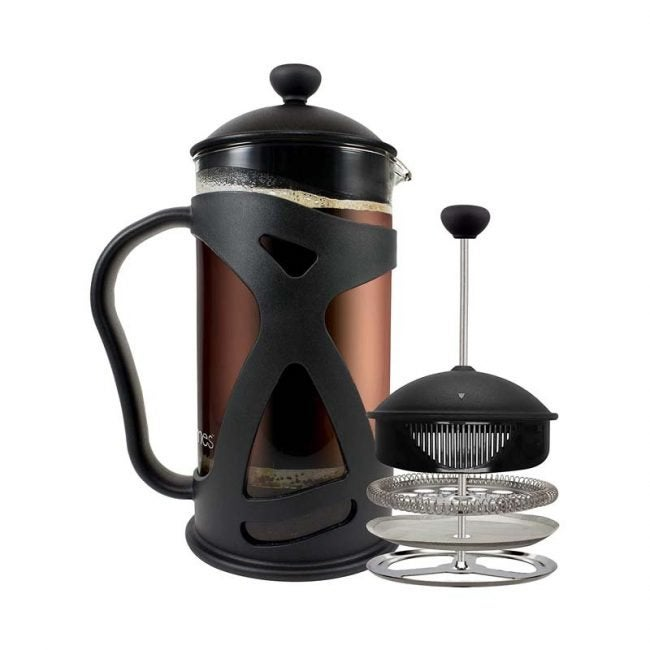 The Best French Press Option: KONA French Press With Reusable Stainless Steel Filter