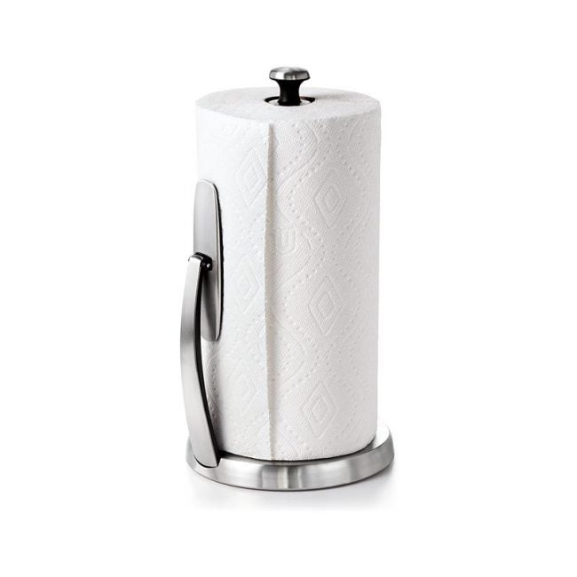The Best Paper Towel Holder Option: OXO Good Grips SimplyTear Standing Paper Towel Holder