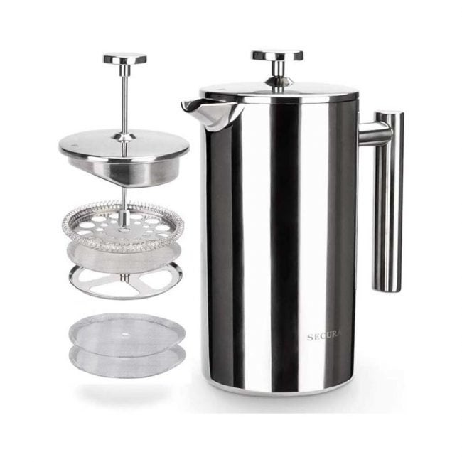 The Best French Press Option: Secura Stainless Steel French Press Coffee Maker