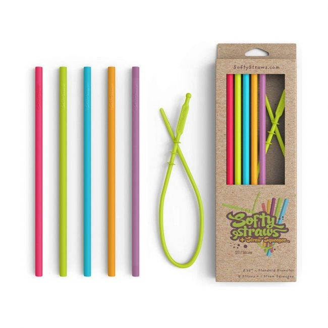 The Best Reusable Straws Option: Softy Straws Silicone Straws