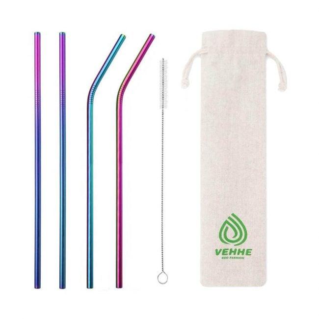 The Best Reusable Straws Option: Vehhe Drinking Straws Reusable 4 Set