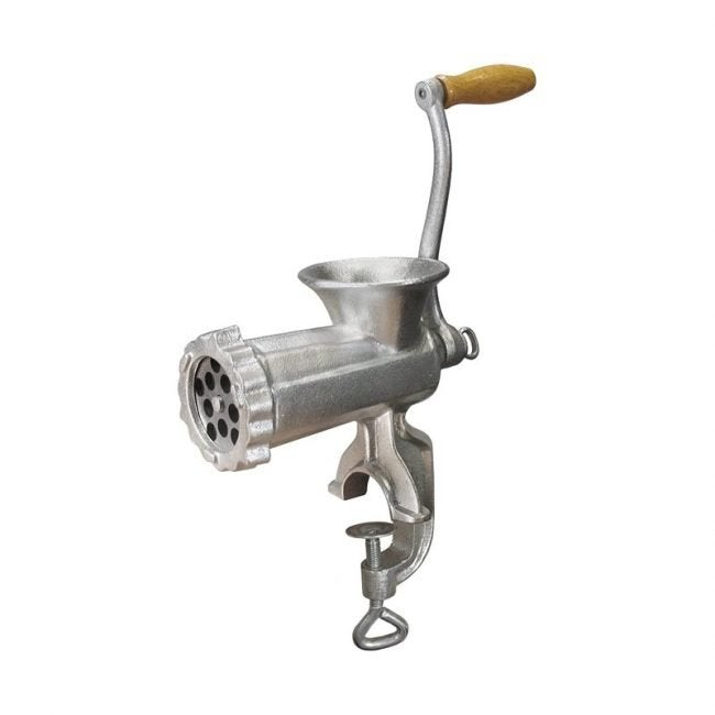The Best Meat Grinder Option: Weston Manual Tinned Manual Meat Grinder