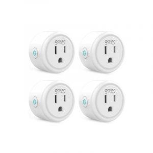 The Best Smart Plug Option: gosund Smart Plug, Mini WiFi Outlet 4-Pack