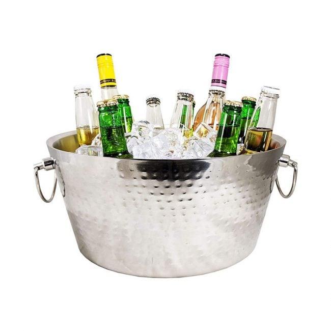 The Best Beverage Tub Option: BREKX Stainless-Steel Metal Bucket