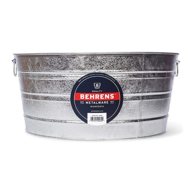 The Best Beverage Tub Option: Behrens 17 Gallon Round Hot Dipped Steel Tub