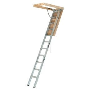 Best Attic Ladder Options: Louisville Ladder AA2210 Elite Aluminum Attic Ladder