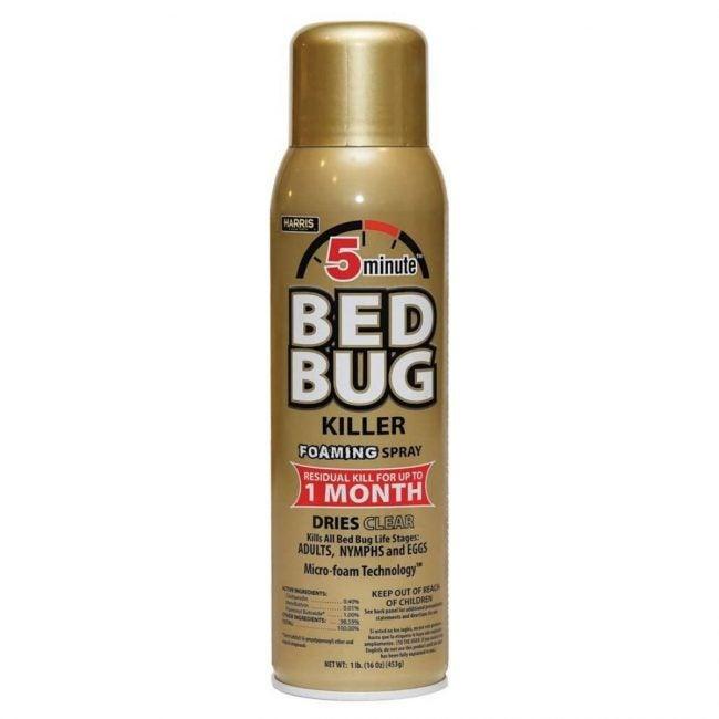 The Best Bed Bug Spray Option: Harris 5-Minute Bed Bug Killer Foaming Spray