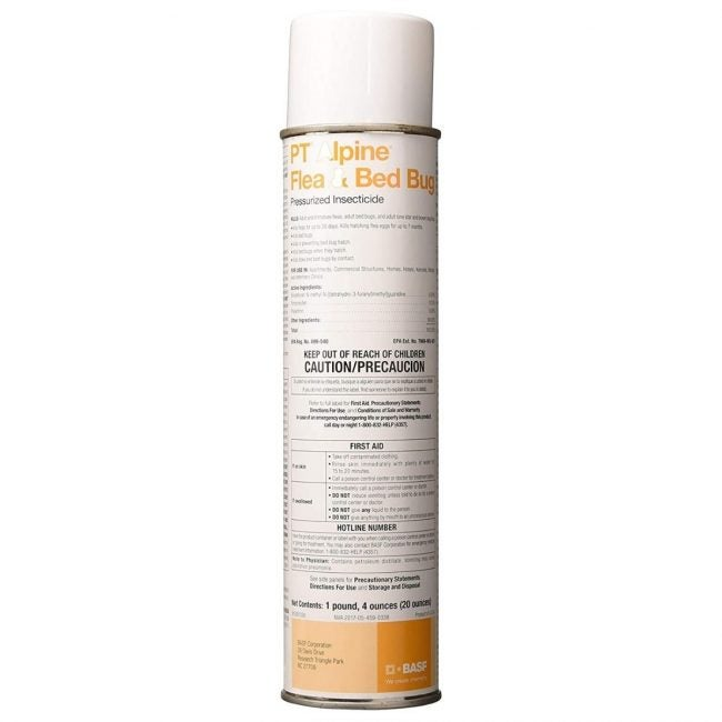 The Best Bed Bug Spray Option: PT Alpine Flea & Bed Bug Pressurized Insecticide