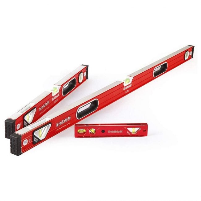 The Best Levels Option: Goldblatt 3-piece Torpedo Spirit Level Set