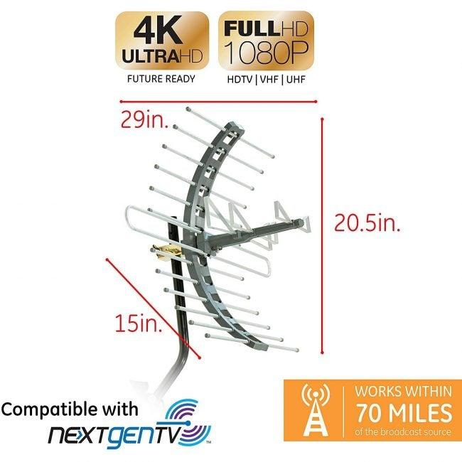 Best Outdoor TV Antenna GE Pro