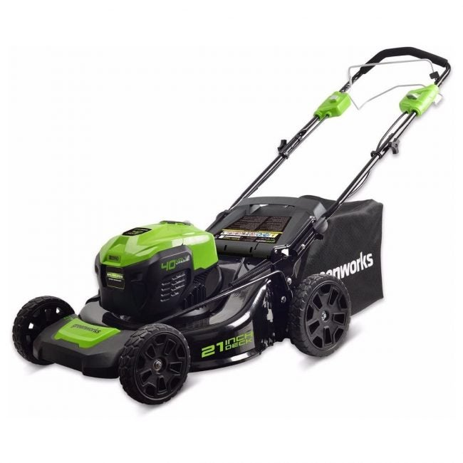 The Best Self Propelled Lawn Mowers Option: Greenworks 21-Inch 40V Self-Propelled Cordless Mower