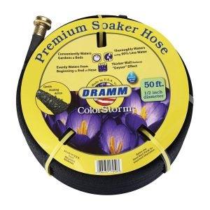 """The Best Soaker Hose Option: Dramm 17050 50' ColorStorm 1/2"""" Standard Soaker Hose"""