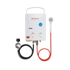 Best Tankless Gas Water Heater Options: Camplux 5L 1.32 GPM Outdoor Portable Propane Tankless Water Heater