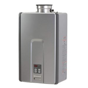 Best Tankless Gas Water Heater Options: Rinnai RL Series HE+ Tankless Hot Water Heater Indoor installation