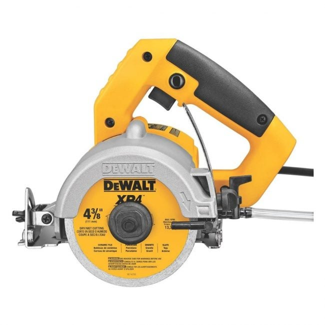 The Best Tile Saw Option: DEWALT DWC860W 4 3/8-Inch Wet/Dry Masonry Saw