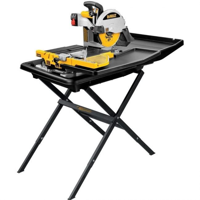 The Best Tile Saw Option: DEWALT Wet Tile Saw with Stand