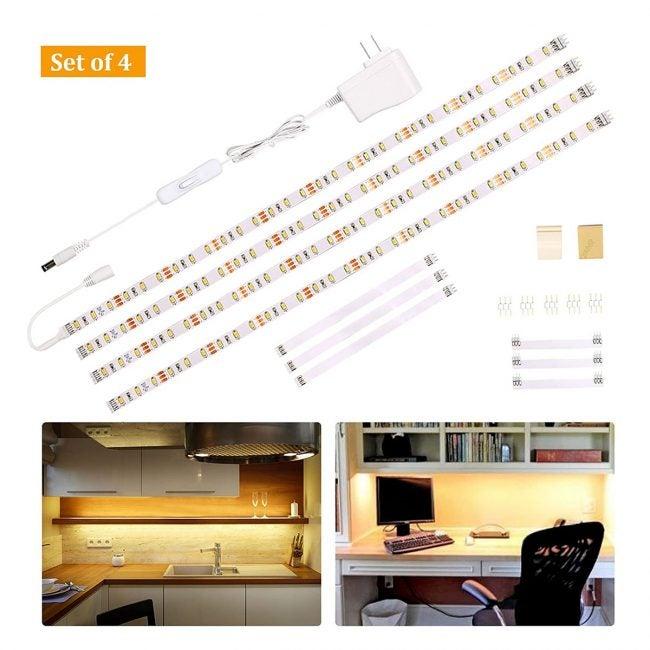 Best Under Cabinet Lighting Options: Wobane Under Cabinet Lighting Kit