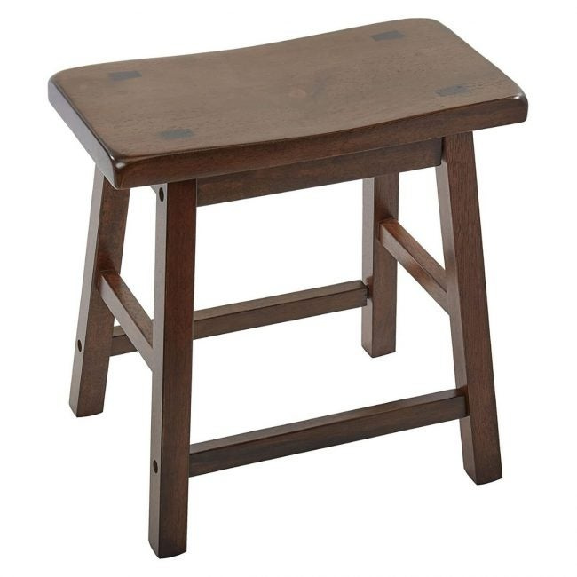 The Best Wooden Stool Option: Acme Furniture Set of 2 Gaucho Stools, 18 Inch