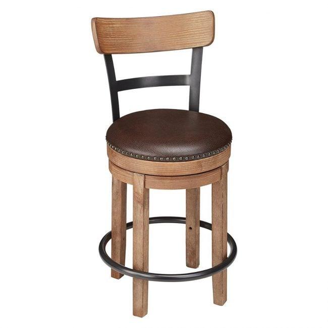 The Best Wooden Stool Option: Ashley Furniture Signature Design Swivel Barstool
