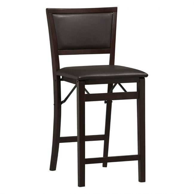 The Best Wooden Stool Option: Linon Home Decor Keira Pad Back Folding Counter Stool