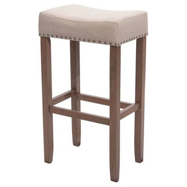 The Best Wooden Stool Option: Nathan James 21403 Hylie Nailhead Pub-Height Stool