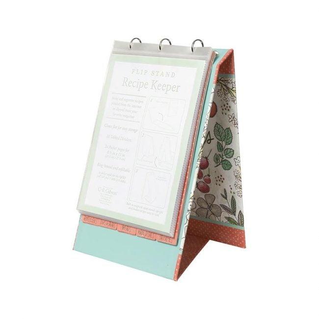 The Best Recipe Organizer Option: C.R. Gibson Vertical Recipe Keeper Flip Stand