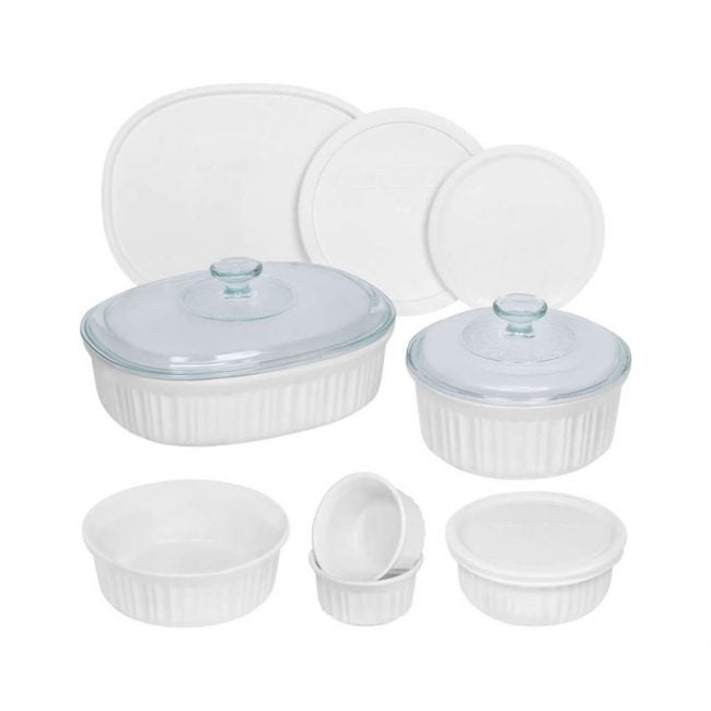 The Best Casserole Dish Option: CorningWare French White Ceramic Bakeware, 12-Piece