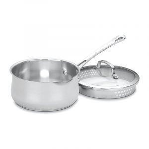 The Best Saucepan Option: Cuisinart Contour Stainless 2-Quart Pour Saucepan