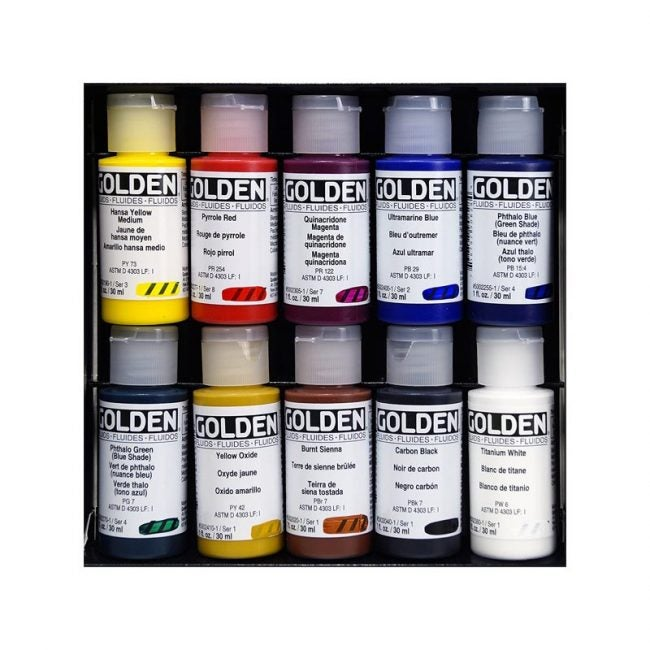 The Best Acrylic Paint Option: Golden Fluid Acrylic