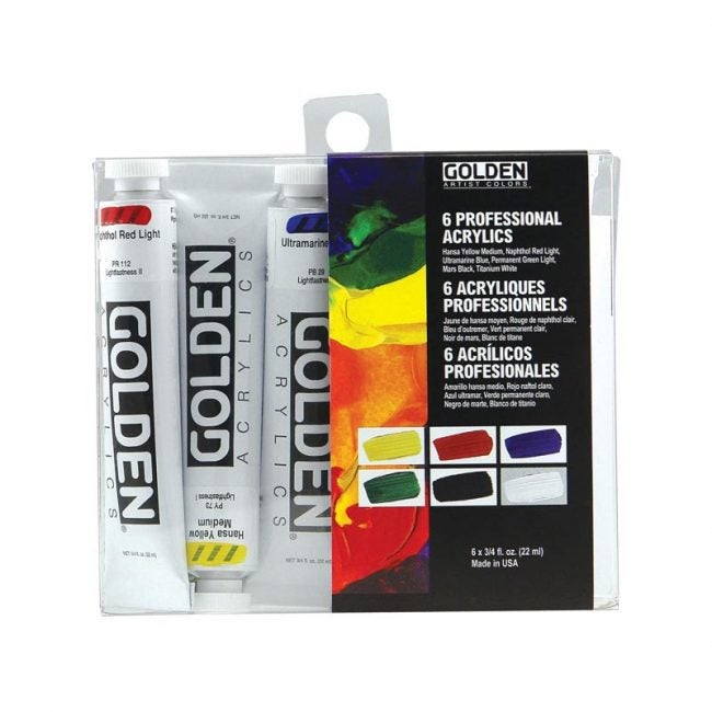 The Best Acrylic Paint Option: Golden Heavy Body Acrylic Introductory Set