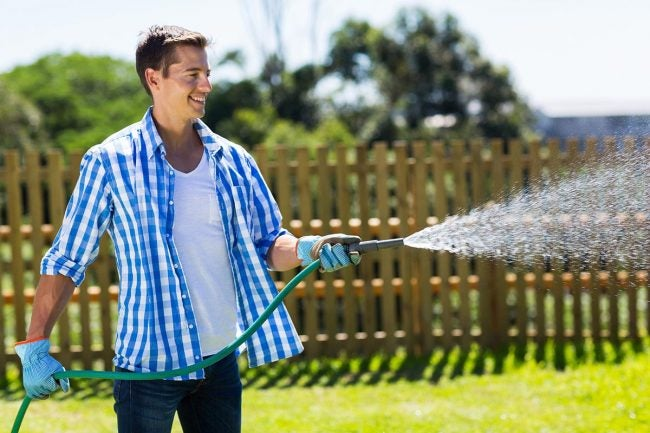 How To Overseed a Lawn: Water the Lawn