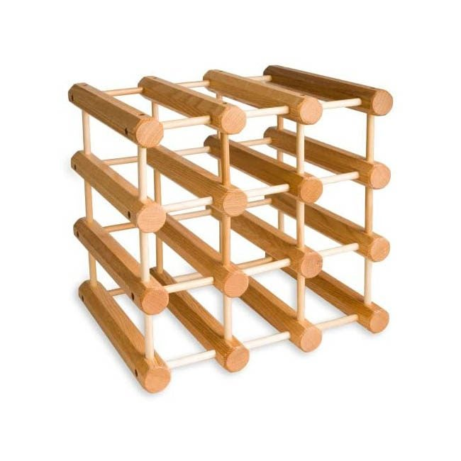 The Best Wine Rack Option: J.K. Adams Ash Wood 12 Bottle Wine Rack