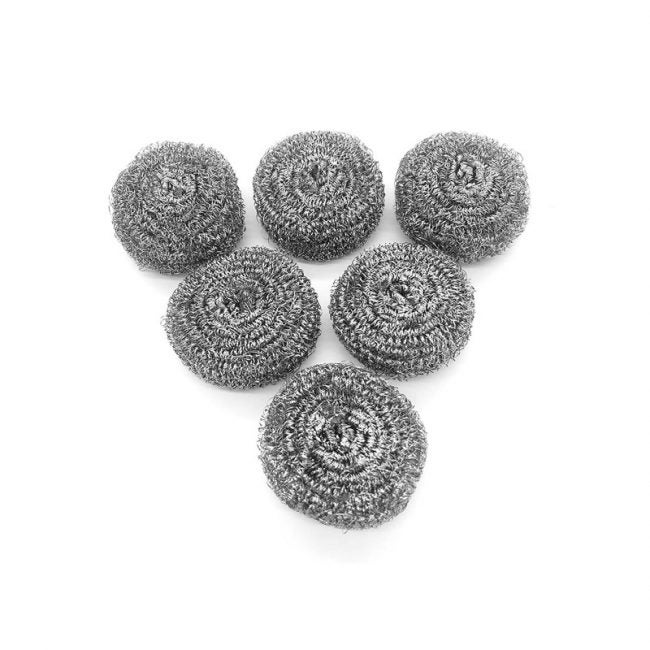 The Best Dish Scrubber Option: Ktojoy 6 Pack Stainless Steel Sponges
