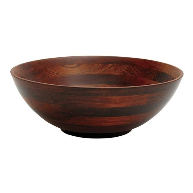 The Best Wooden Salad Bowl Option: Lipper International Cherry Finished Footed Salad Bowl