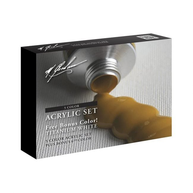 The Best Acrylic Paint Option: M. Graham 5 Color Acrylic Set, with 1 Bonus Tube