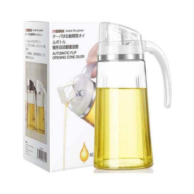 The Best Oil Dispenser Option: Marbrasse Auto Flip Olive Oil Dispenser Bottle