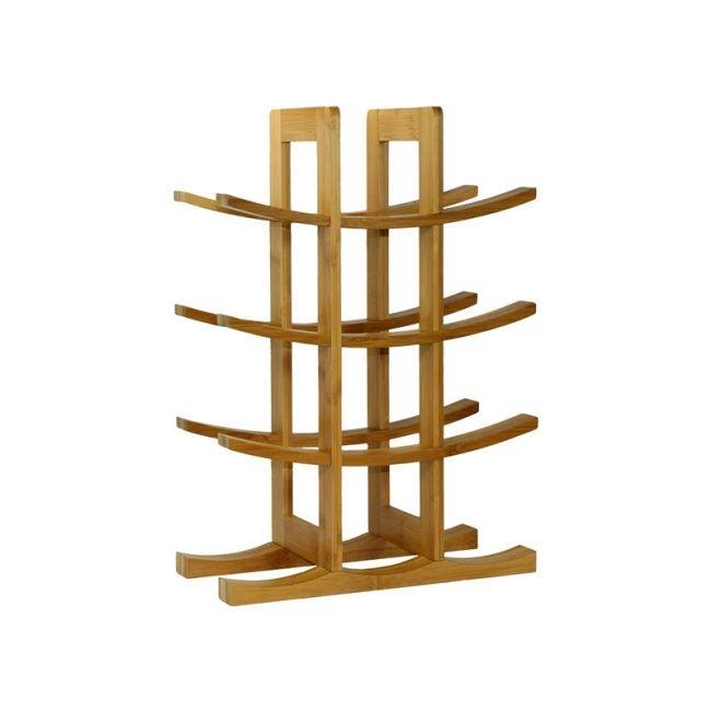 The Best Wine Rack Option: Oceanstar 12-Bottle Natural Bamboo Wine Rack