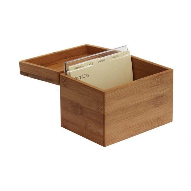 The Best Recipe Organizer Option: Oceanstar Bamboo Recipe Box with Divider